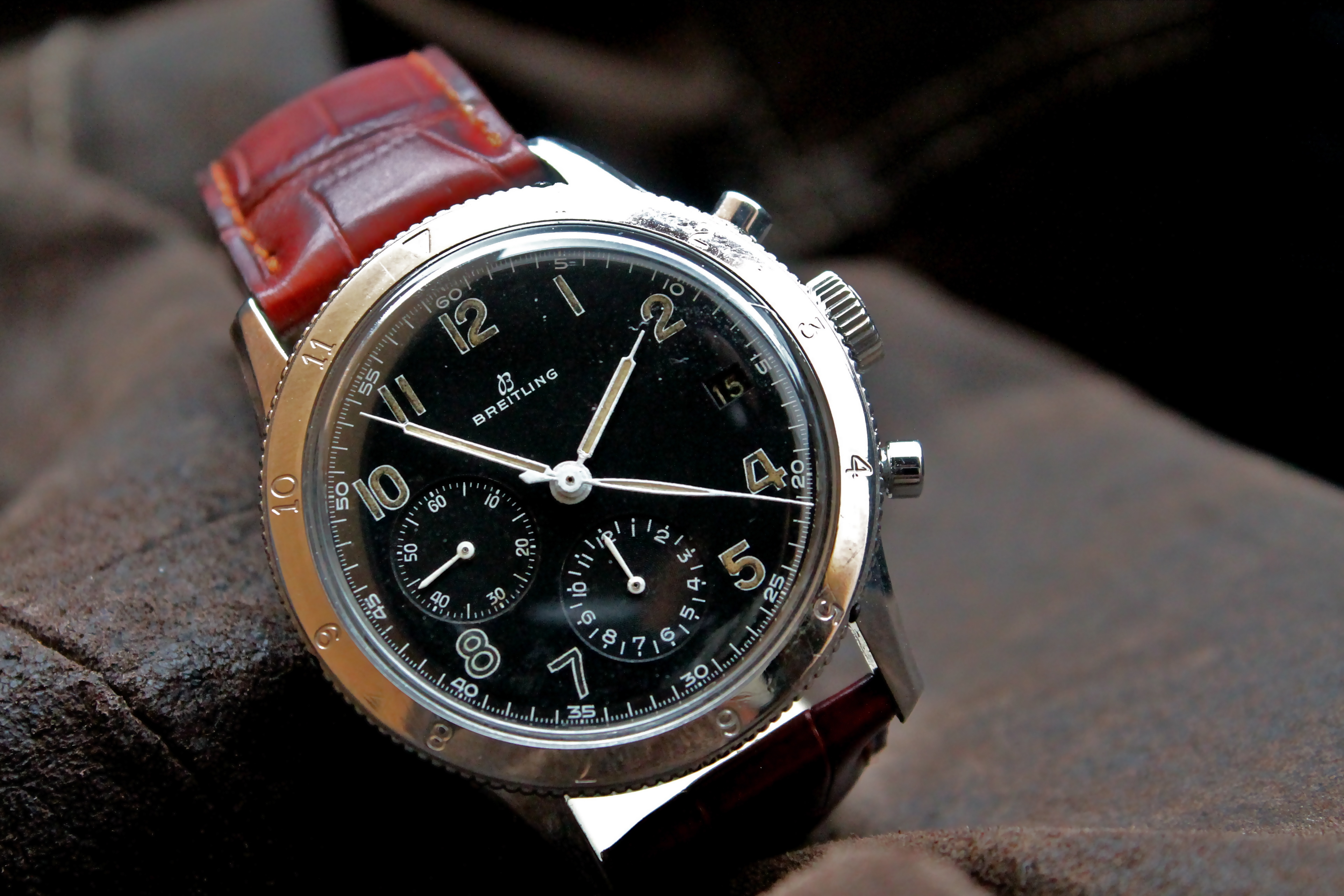 aviator watch breitling sekl  AVI from the '50s